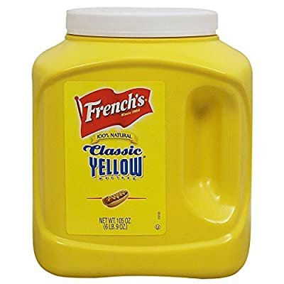 French's Classic 100% Natural Yellow Mustard In Various Pack Size