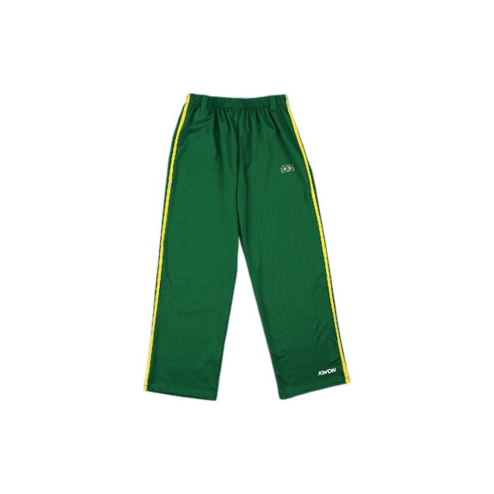 Kwon capoeira pantalones tira, colour verde/amarillo Kwon M 2062502