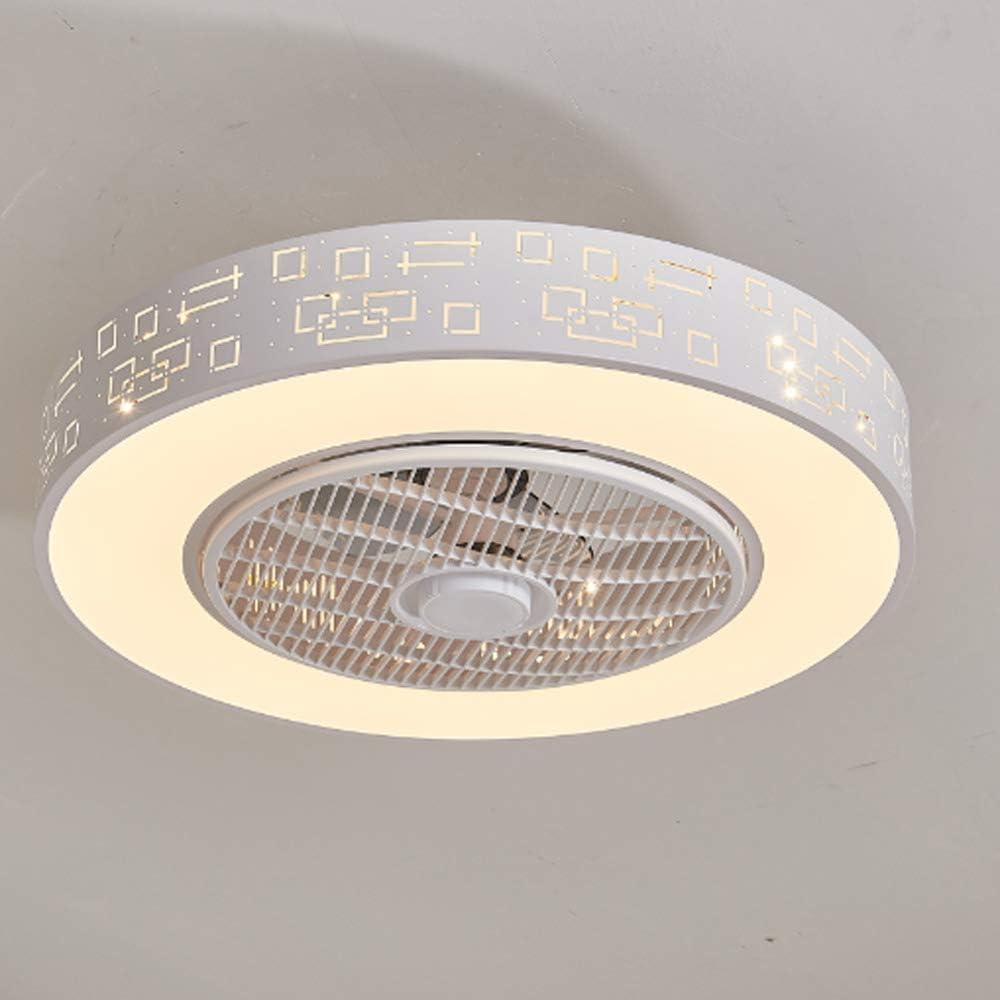 ZJYX Lámpara LED Ventilador De Techo, Lámpara Ventilador Eléctrico, con Oscurecimiento De Control Remoto, Lámpara De La Decoración del Hogar Moderno, Apto para Salón, Dormitorio
