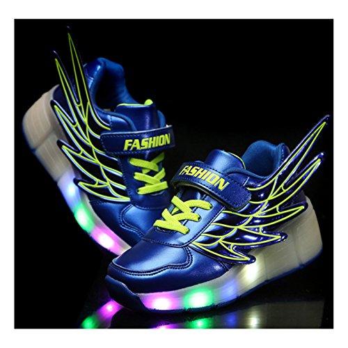 Mädchen Jungen Skateboard Schuhe Flügel-Art Rollen Verstellbare Schlittschuhe Neutral Rollschuh Schuhe Sneaker LED Leuchtet Sohle Leuchtend Sport Turnschuhe