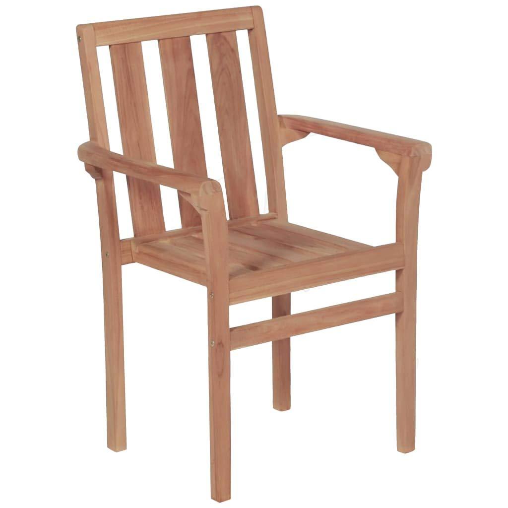 vidaXL - 2 sillas de jardín apilables de Madera de Teca ...