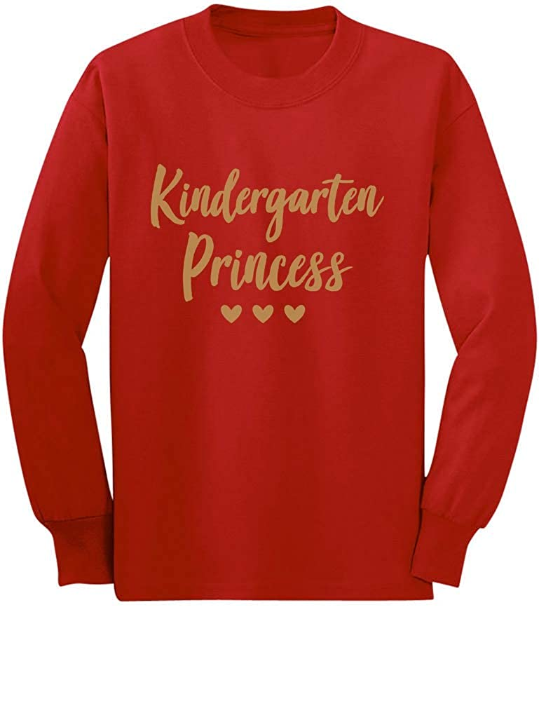 Kindergarten Princess Cute Back to School Toddler//Kids Long Sleeve T-Shirt