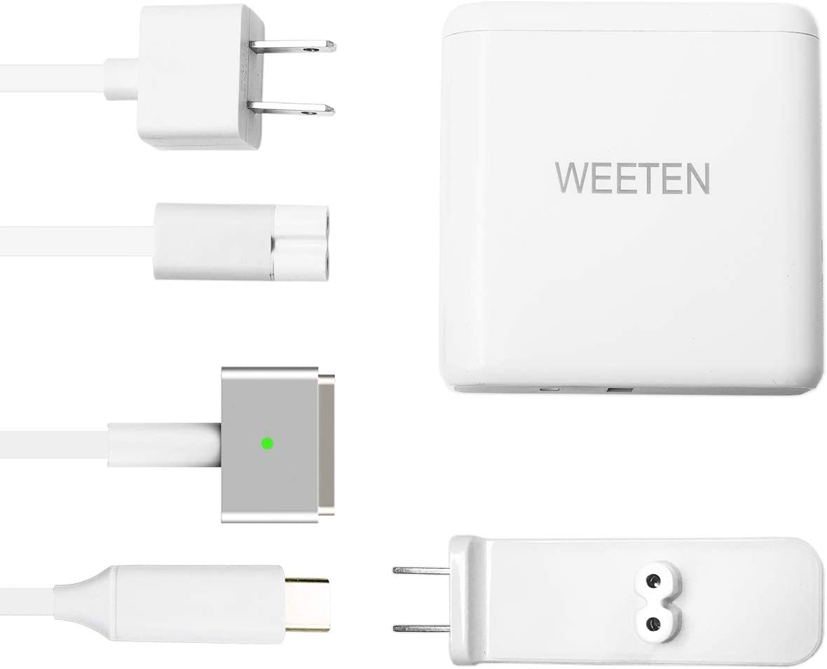 WEETEN 60W Power Adapter Compatible with MacBook Pro 13 T-Tip Style Mental Connector Charger, Work with MacBook Pro Retina 13 inch and MacBook Air 11/13 inch (2012-2015)