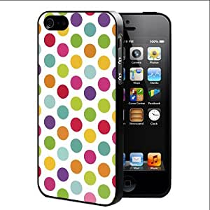 Colorful Rainbow Polka Dots Pattern (iPhone 4/4s) Rubber Silicone TPU Cell Phone Case by lolosakes