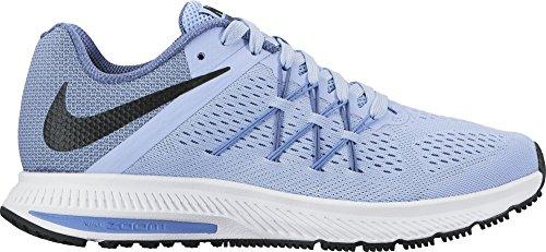 Nike Wmns Zoom Winflo 3, Zapatos para Correr para Mujer Multicolor (Aluminum/black-blue Moon-polar)