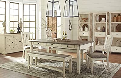 Signature Design by Ashley D647-00 Bolanburg Upholstered Dining Room Bench