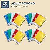 Juvale 20-Pack Disposable Rain Ponchos, Adults