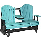 LuxCraft Recycled Plastic 5′ Adirondack Glider Chair