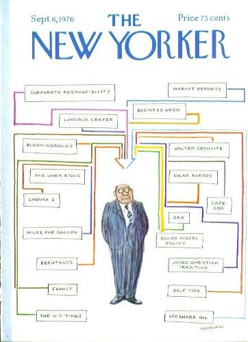 New Yorker Cover Stevenson Organization Chart 9 6 1976