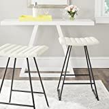 Safavieh Home Collection Akito Mid-Century Modern Cream 26-inch Counter Stool (Set of 2)