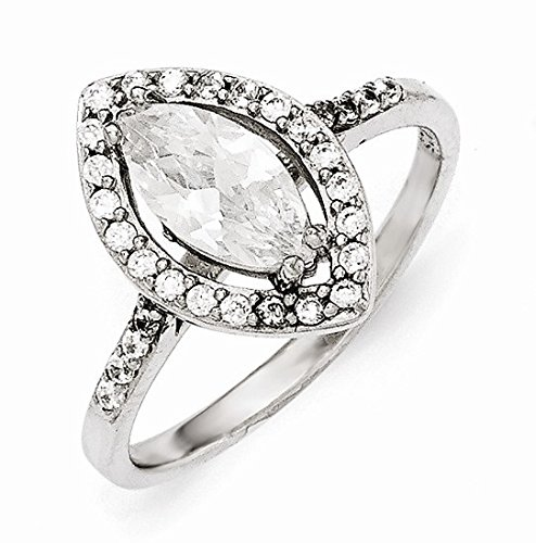 UPC 191101549144, Cheryl M Sterling Silver Cubic Zirconia Marquise Ring Size 7 #917