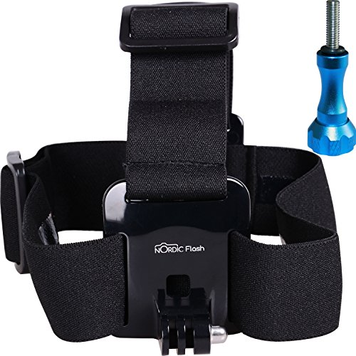 Head Strap Mount for GoPro Cameras - Headband Harness + Aluminum Thumbscrew - Fits ALL Go Pro Hero Models, HERO4, HERO3+ Black Edition, HERO3, HERO2, HERO1, HD & SJ4000 etc. - 1 Year Warranty (4 Ipad Para Accesorios)