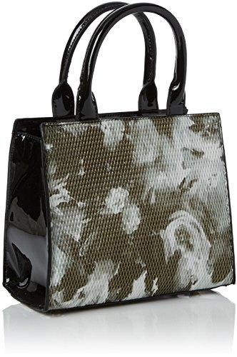Handbag bandoulière Swans Sacs Swanky Mini Mila Floral Black Noir wTxqBa