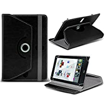 Kobo Arc ( Black ) Tablet Luxury 360° Rotating PU Leather Wallet Spring Stand Skin Case Cover by ONX3