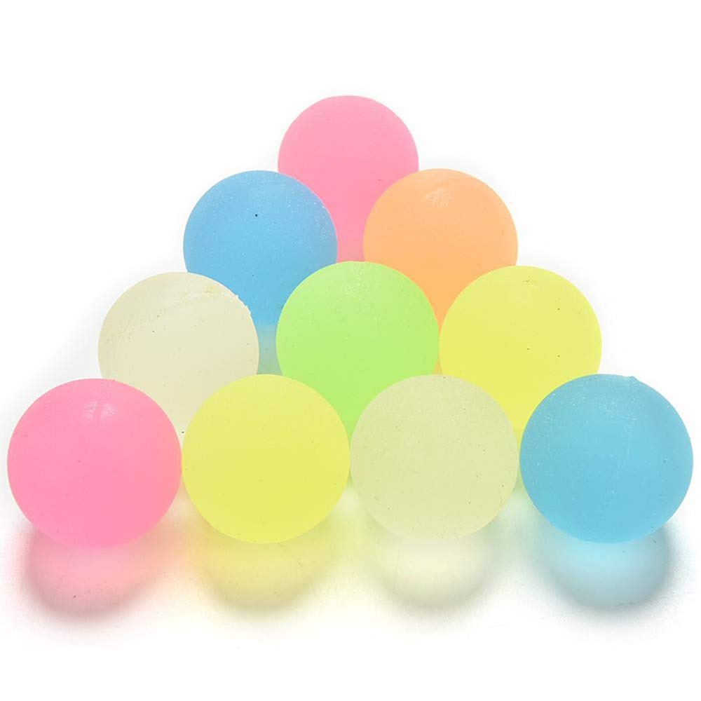 Balls High Bouncy Toys Kids Baby Party Favors Glow in The Dark Bouncing Stress Relief Girls Gift 10pcs Pack