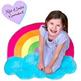 Floor Bloom Decorative Rainbow Pillow - Large Floor Pillow in the Shape of a Rainbow - Soft and Cozy Fun Decor for Kids Room