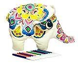 3D Mandala-Elefante de Tela Suave para Colorear. Busca Paz, armonía y relajación/Regalo Decorativo, Divertido y Personalizable para niños y Adultos. Disfruta de tu creación, no la guardes en un Libro