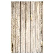 SODIAL(R) 5X7ft Wall Wood Wedding Studio Prop Backdrops Vinyl Photography Background Floor