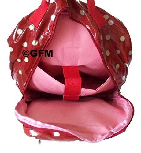 etc le Grand cirée la Style GFM sport l'école Plka Large dos sac Fastglas Dot Polka sport finition 2 Black pour de kl l'université salle à Size cxcvaCn