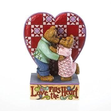 Jim Shore Weak in the Knees-kissing Bears Figurine