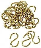 S Hook, Brass, 100 PK