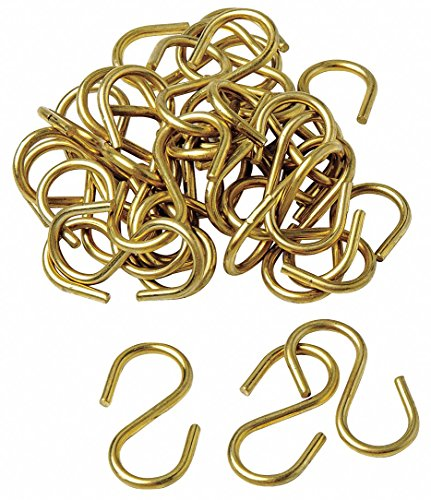 S Hook, Brass, 100 PK by Brady (Image #1)