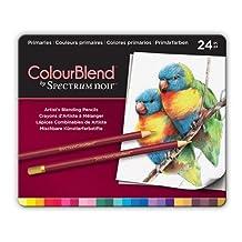ColourBlend by Spectrum Noir 24 Piece New Pencil Tin, Primaries