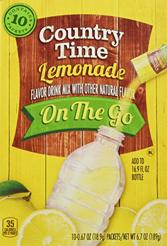 Country Time Lemonade On-the-Go Packets, 10-Count Boxes (Pack of 6) (10 Lemonade)