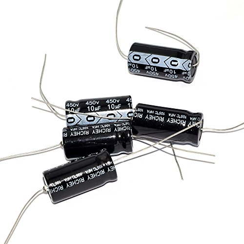 Cary 5pcs 450v 10uf 105c Long Copper Leads Axial Electrolytic Capacitors Tube Amps
