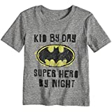 Jumping Beans Toddler Boys 2T-5T DC Comics Batman Heathered Graphic Tee 2T Charcoal Snow