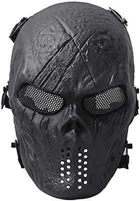 Queenshiny Traje de Halloween de la protección Militar de la máscara de Airsoft Paintball del cráneo
