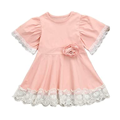 Carolui Baby Dress - Ropa de Bautizo - para bebé niña Rosa ...
