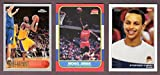 Michael Jordan 1986, Kobe Bryant 1996, Stephen Curry 2009 ** (3) Card Basketball Rookie Reprint Lot (Bulls) (Lakers) (Warriors)
