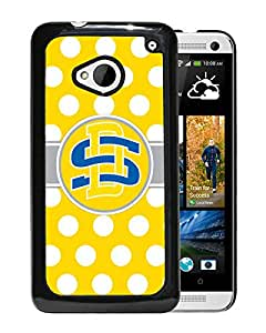 NCAA South Dakota State Jackrabbits 4 Black HTC ONE M7 Protective Phone Cover Case