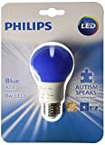 Philips 60 Watt Equivalent Medium Base A19 Non-Dimmable Instant On Autism Speaks LED Blue Light Bulb