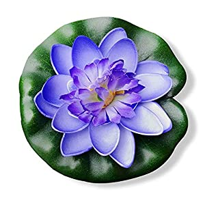 BZCTAH Small Floating Flower Foam Lotus Artificial Flowers, Home Garden Pond Aquarium Wedding Decoration 56