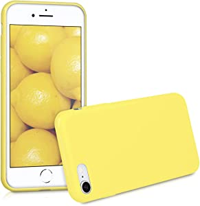 kwmobile TPU Silicone Case Compatible with Apple iPhone 7/8 / SE (2020) - Soft Flexible Protective Phone Cover - Yellow Matte