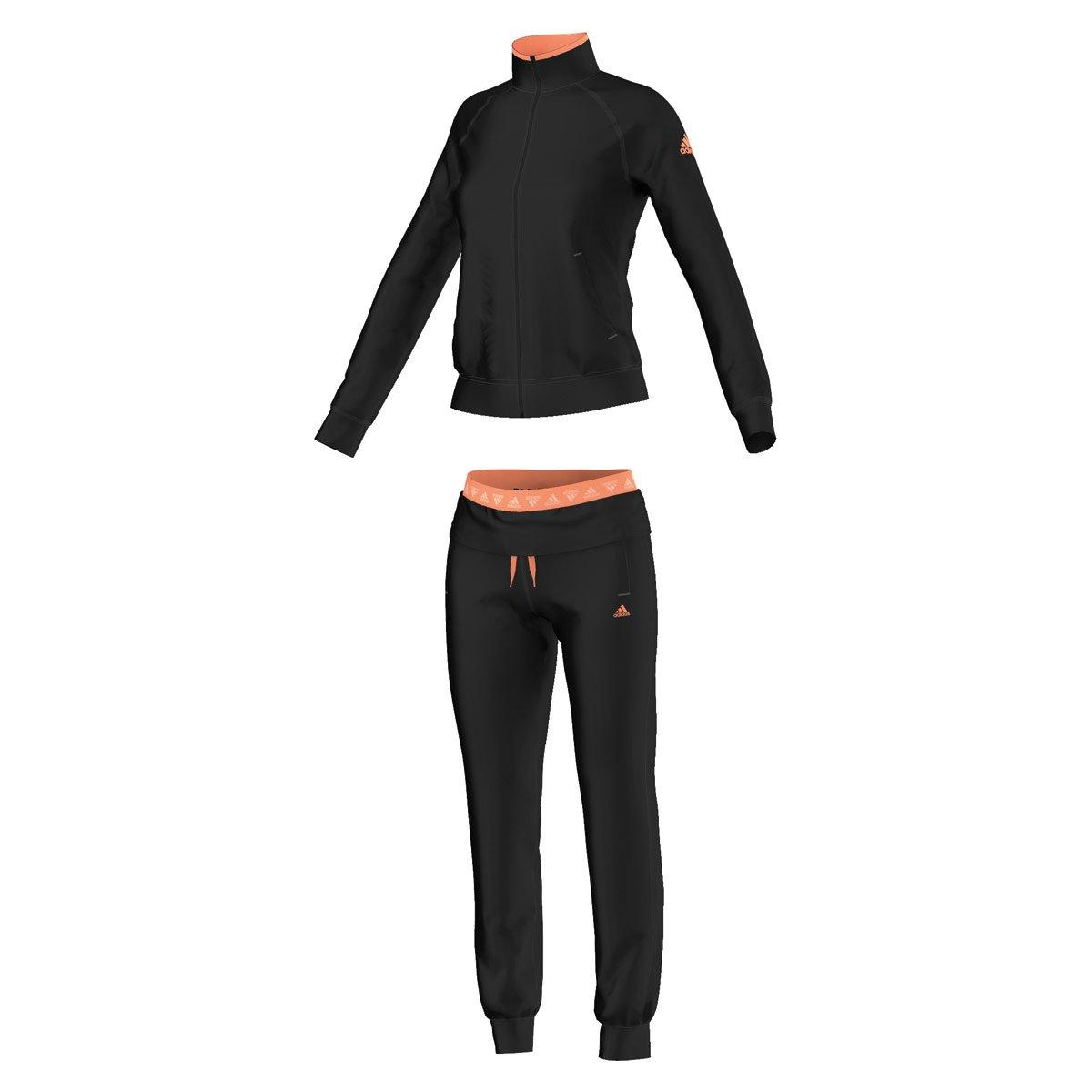 adidas Pantalones de Fitness Women s, Color Negro/Naranja, tamaño ...
