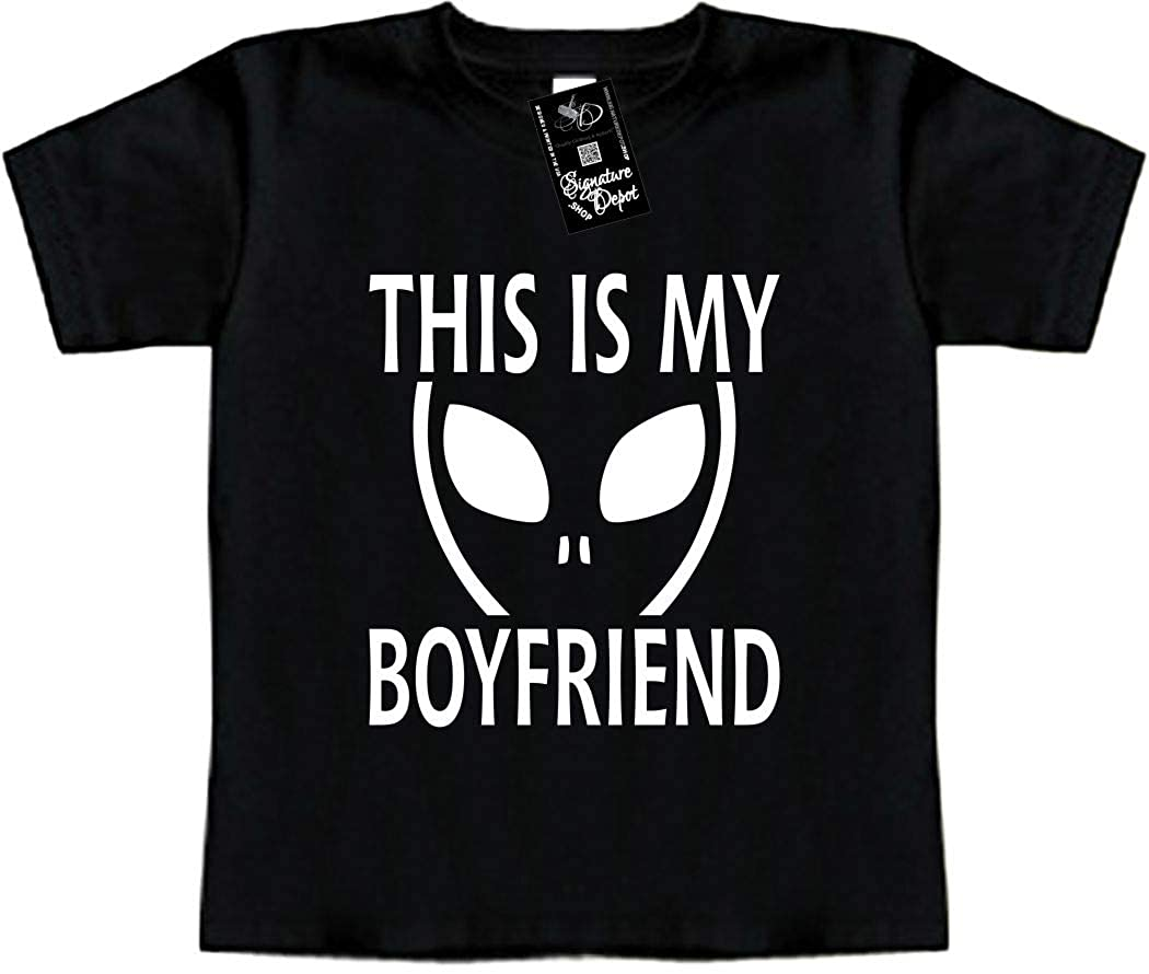 Funny Baby T-Shirt Toddler Tee Alien, UFO, Space This is My Boyfriend