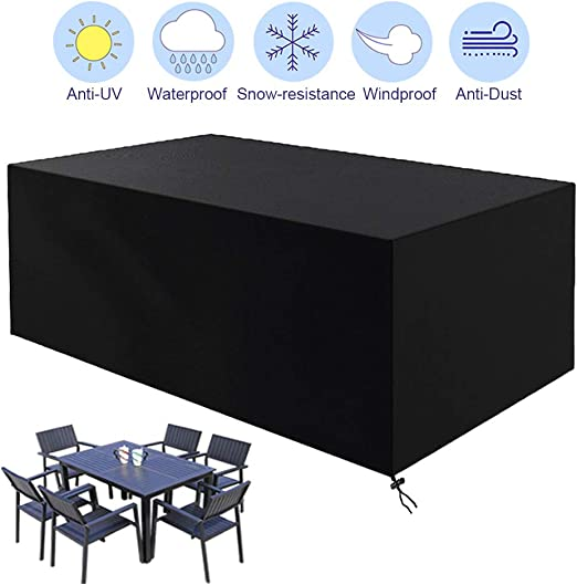 CYWEB Fundas Muebles Jardin, Impermeable Cubierta Protectora para Mesa Sillas y Sofás de Exterior Anti-UV Tela Oxford 420D (213 x 132 x 74cm): Amazon.es: Jardín