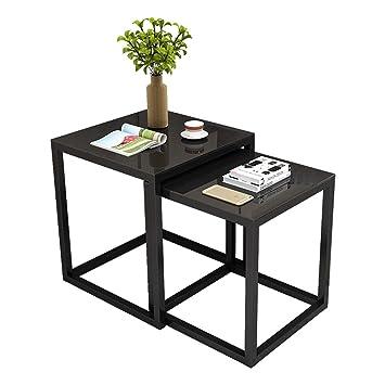 d18af6a542adba ZHIRONG Tables gigognes, ensemble de 2 tables basses Table d appoint de  table d