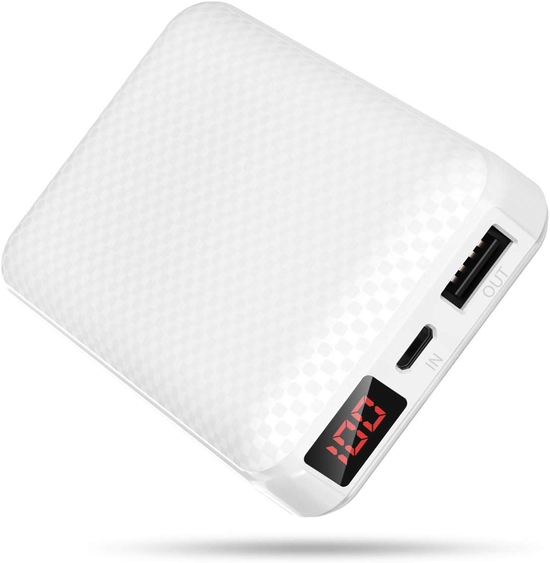 Power Bank 10000mAh Batería Externa [LCD Pantalla Digital] Cargador Portátil Móvil Pequeña y Liviana con 2.1A Puertos Salidas USB Alta Velocidad para Xiaomi,iPhone,Huawei,Tablets y más Dispositivos