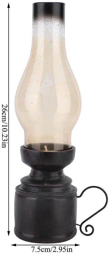 Resina Artigianato Candela Nostalgico Candela Candeliere Portacandele Vintage Glass Home Office Sala da Pranzo Decorazioni da Tavola Wifehelper Candeliere Un