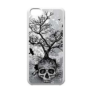 LJF phone case C-EUR Print Skull Pattern Hard Case for ipod touch 5