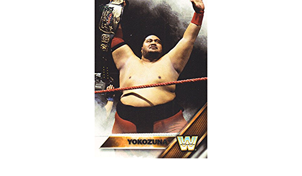 Yokozuna #200 WWE puis maintenant Forever 2016 TOPPS TRADING CARD