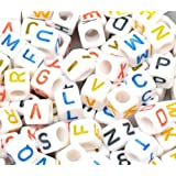 Femitu Alphabet Letter Beads 7mm, 200pc