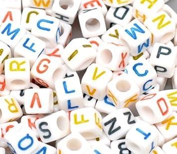 alphabet letter beads 7mm 200pc