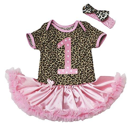 Valentine Baby Dress Birthday Polka Dots 1st Bodysuit Pink Satin Tutu Nb-18m (Polka Dots Satin Headband)