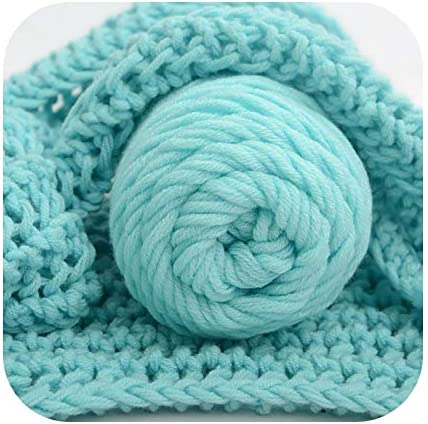 sexy-kawayi ナチュラルソフト100グラム粗ウールロービングスカーフ編み糸厚く暖かい帽子家庭用ベビーかぎ針編み糸-one_color-