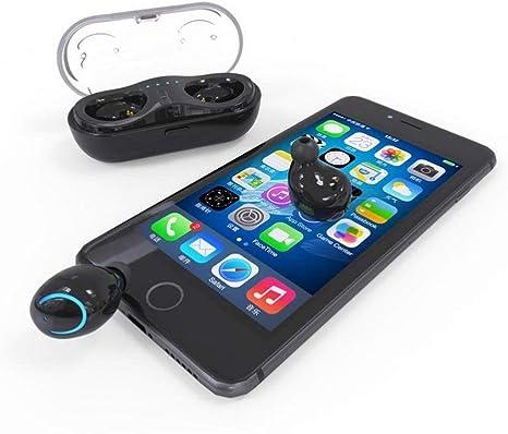 Audífonos Bluetooth 5.0, 3D Dolby Surround, IPX5 auriculares inalámbricos deportivos impermeables, estuche de carga portátil, auriculares inalámbricos Bluetooth, para Apple Airpods, Beats, iPhone y Android: Amazon.es: Electrónica